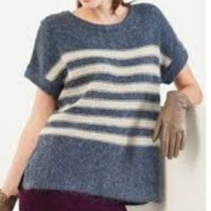 Gap Casual Soft Mohair Knit Sweater Black & Cream